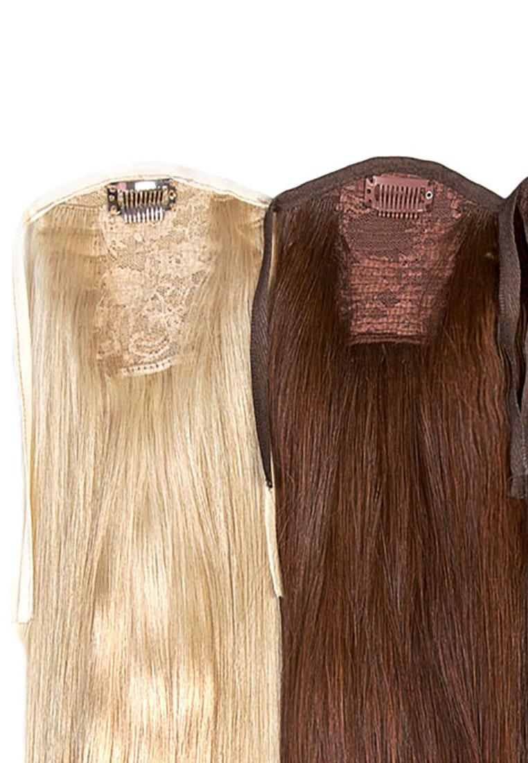 Шиньон-хвост на липучке – Славянская линия волос