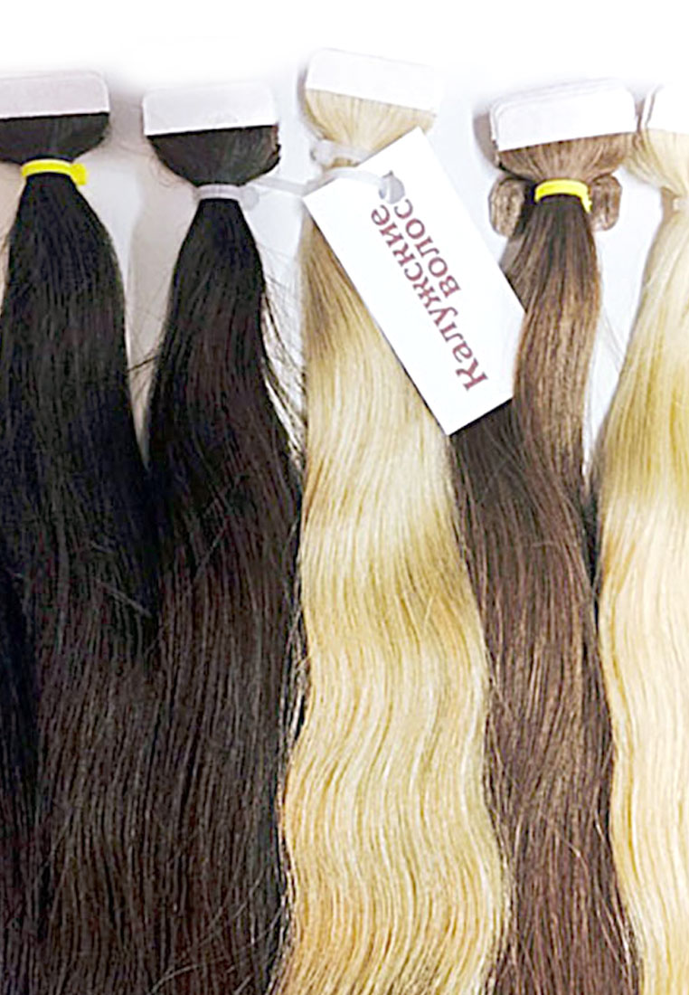 Hair on tapes of the brand Kaluga Hair