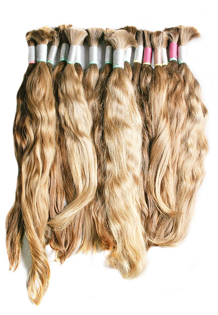 Selected Slavic hair unpainted, dark blond shades