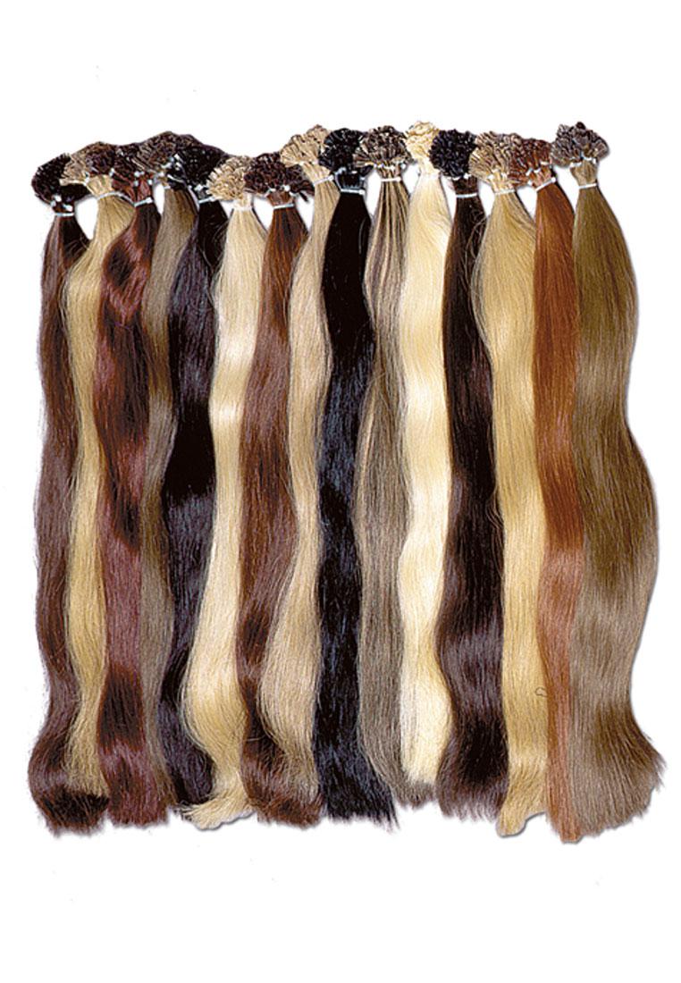 European hair with keratin capsule